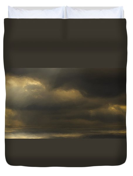 Rolling Sea Duvet Cover by Ron Jones