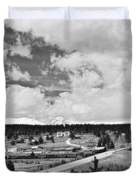 Rollinsville Colorado Small Town 181 In Black And White Duvet Cover by James BO  Insogna