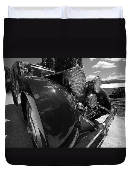Duvet Cover featuring the photograph Rolls Royce Station Wagon by John Schneider