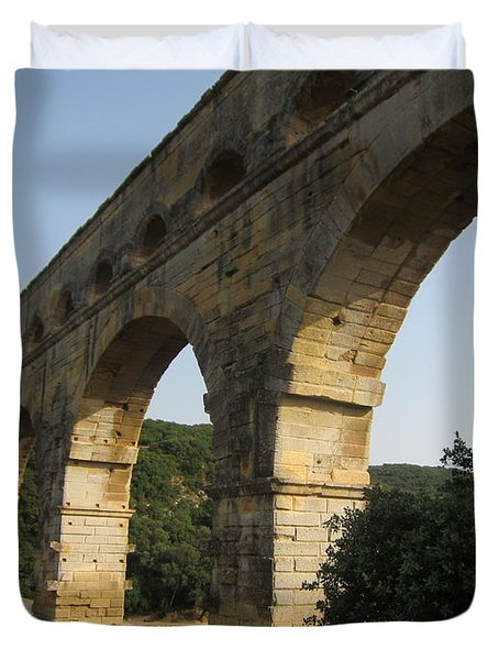 Roman Aqueduct Duvet Cover by Pema Hou