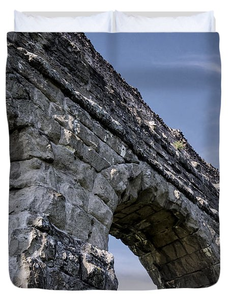 Roman Aqueducts II Duvet Cover by Joan Carroll
