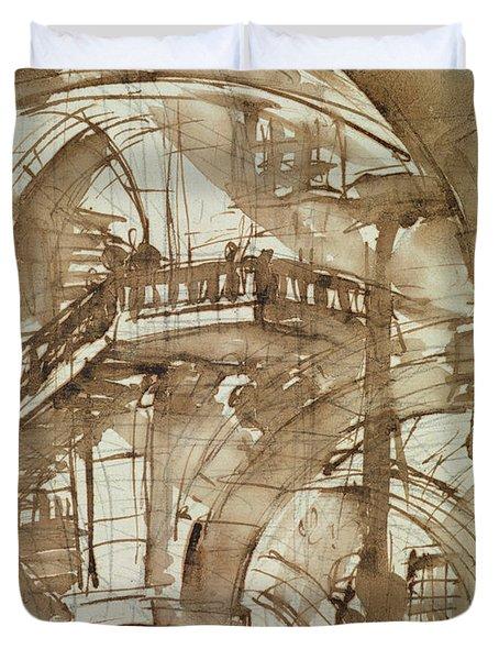 Roman Prison Duvet Cover by Giovanni Battista Piranesi