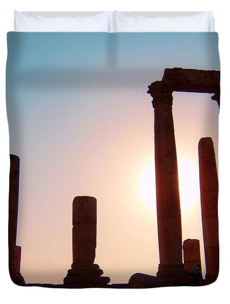 Roman Ruins Of Jerash Duvet Cover