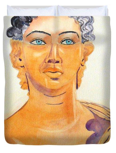 Roman Statue Coming Alive  Duvet Cover