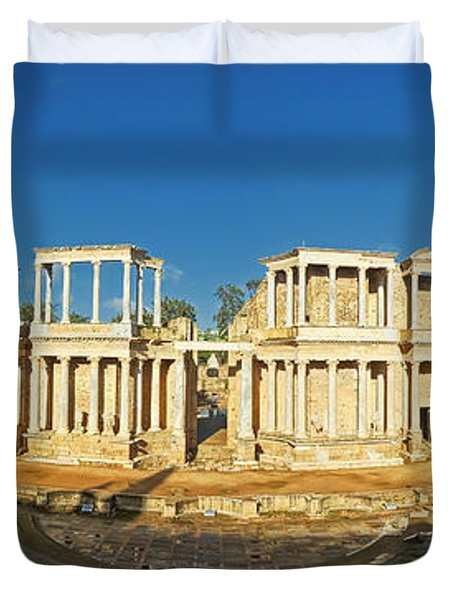 roman theatre in Merida Duvet Cover by Rudi Prott