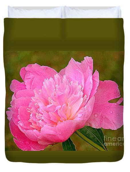 Pink Peony Duvet Cover by Eunice Miller