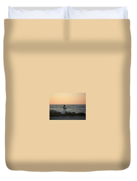 Romance In Captiva Duvet Cover