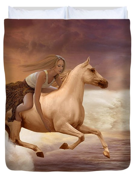Romance In Her Dream Duvet Cover by Angela A Stanton