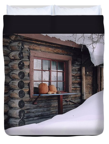 October Snow Duvet Cover