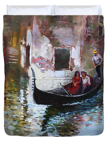 Romance In Venice 2013 Duvet Cover by Ylli Haruni