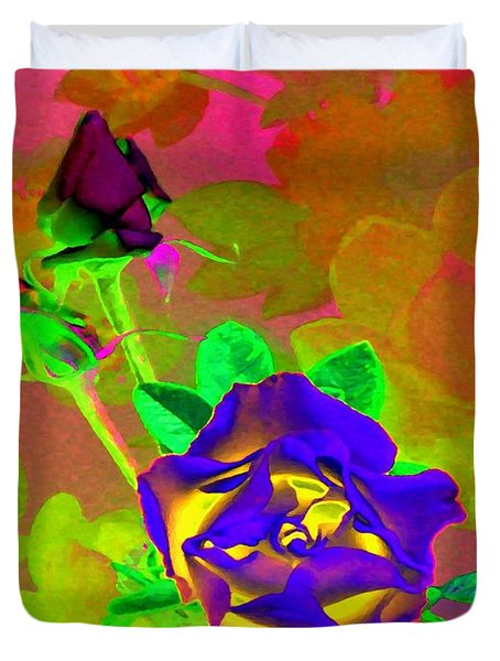 Romancing The Rose Duvet Cover by Will Borden