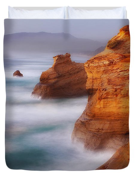 Romancing The Stone Duvet Cover by Darren  White