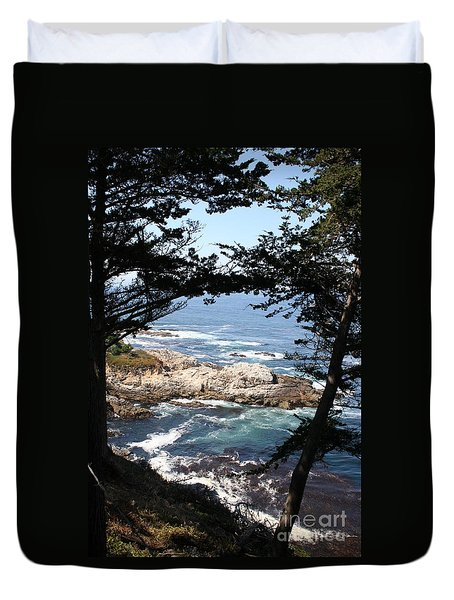 Romantic California Coast Duvet Cover