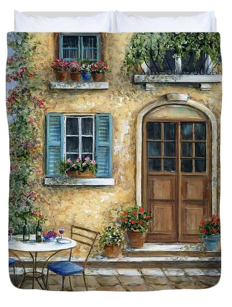 Romantic Courtyard Duvet Cover