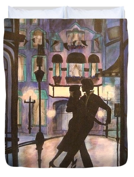 Romantic Dance Duvet Cover by Lynne McQueen