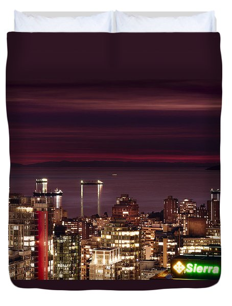 Duvet Cover featuring the photograph Romantic English Bay Mdcci by Amyn Nasser
