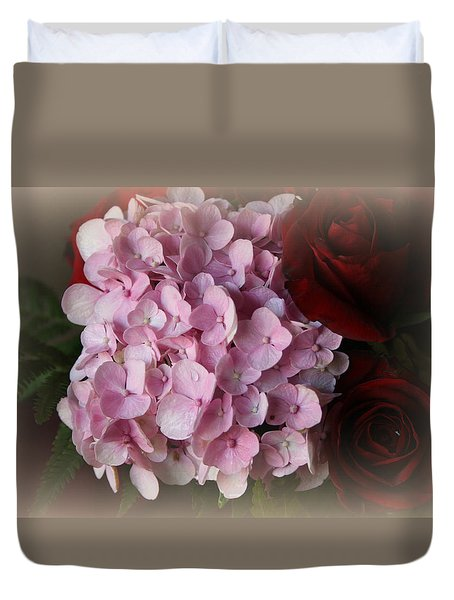 Duvet Cover featuring the photograph Romantic Floral Fantasy Bouquet by Kay Novy