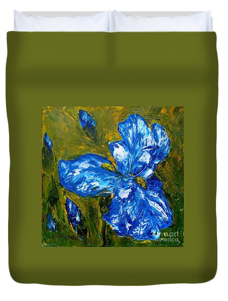 Romantic Iris Duvet Cover