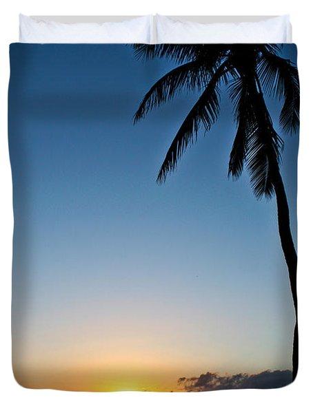 Romantic Maui Sunset Duvet Cover