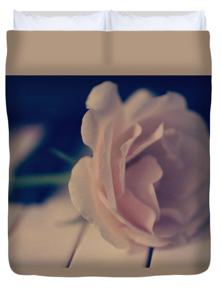 Romantic Rose Duvet Cover by The Art Of Marilyn Ridoutt-Greene