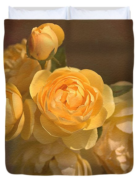 Romantic Roses Duvet Cover by Joy Watson