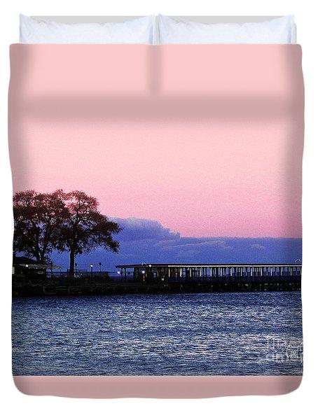 Romantic Seascape  Duvet Cover by Carol F Austin