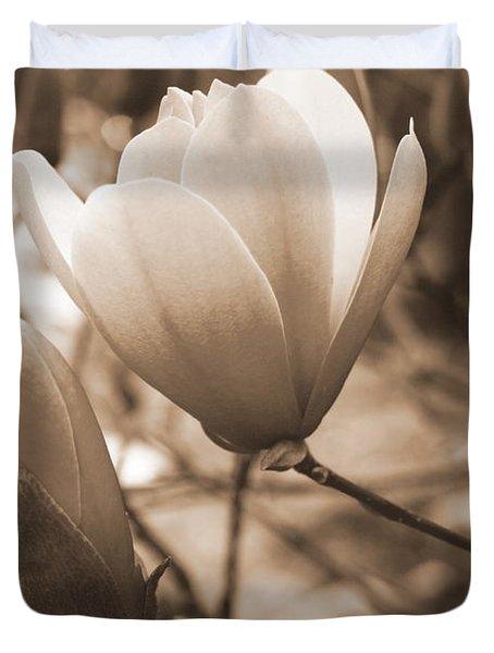 Romantic Vintage Magnolia Duvet Cover by Kay Novy