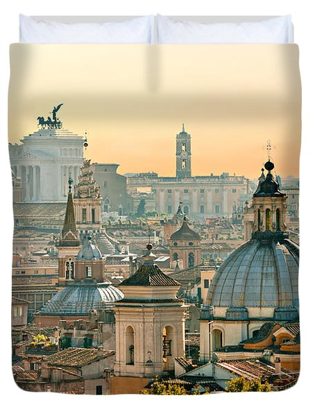 Rome - Italy Duvet Cover by Luciano Mortula