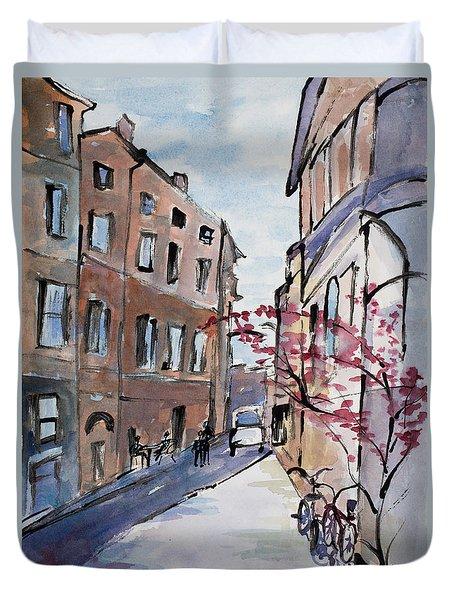Rome Street Scene IIi Duvet Cover