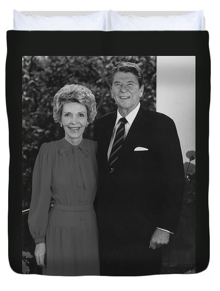 Ronald And Nancy Reagan Duvet Cover by War Is Hell Store