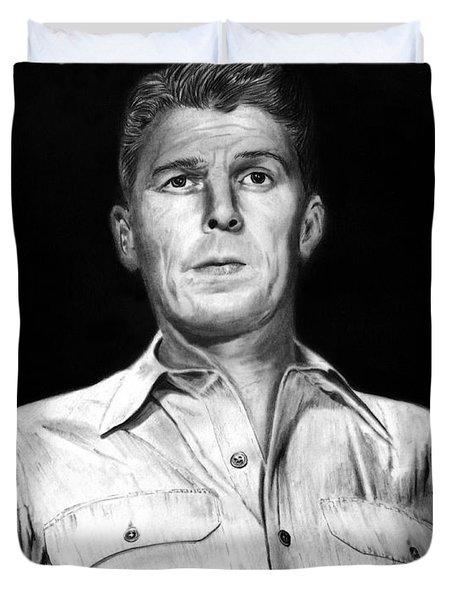 Ronald Regan Duvet Cover by Peter Piatt