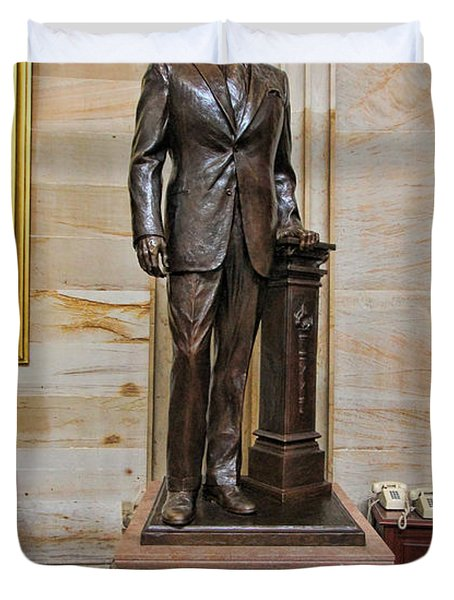 Ronald Regan -  U S Capitol Statuary Hall Duvet Cover by Allen Beatty