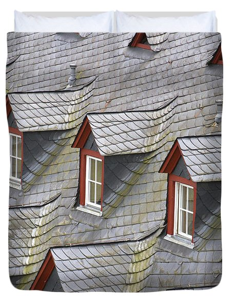 Roof Tops Duvet Cover