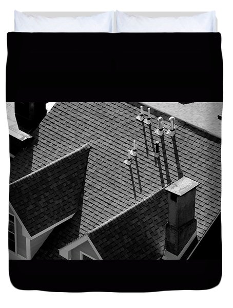 Duvet Cover featuring the photograph Rooftop by John Schneider