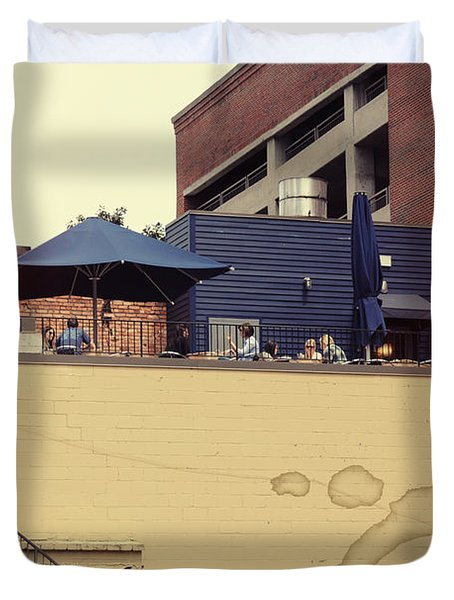 Rooftop Lunch Duvet Cover by Paulette B Wright