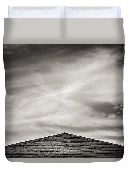 Rooftop Sky Duvet Cover by Darryl Dalton