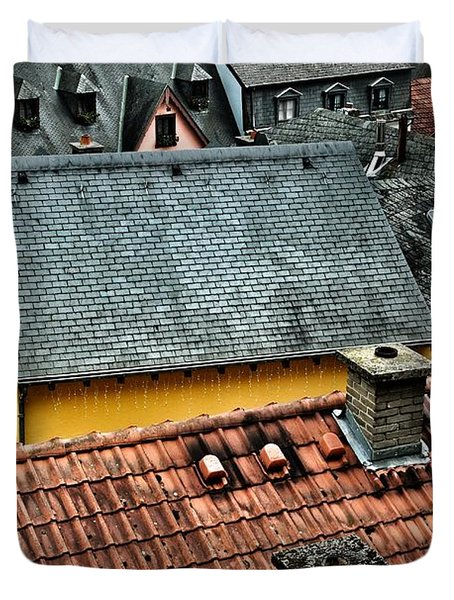 Duvet Cover featuring the photograph Rooftops by Nick  Biemans