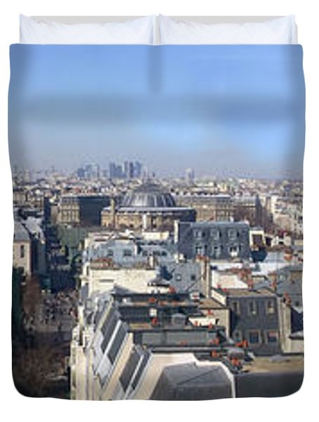 Rooftops Of Paris Duvet Cover by Thomas Marchessault