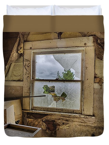 Room With A View Duvet Cover by Caitlyn  Grasso