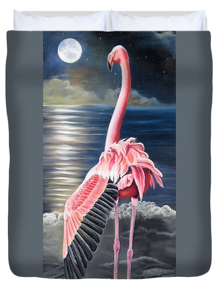 Duvet Cover featuring the painting Room With A View by Phyllis Beiser