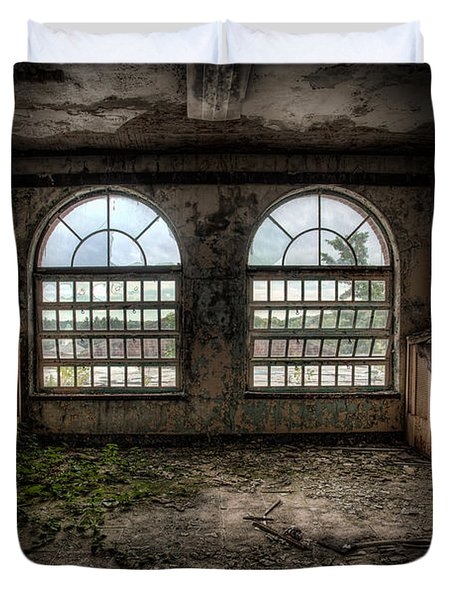 Room With Two Arched Windows Duvet Cover by Gary Heller