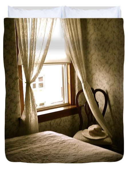 Duvet Cover featuring the photograph Room301 Irish Inn by Joan Reese