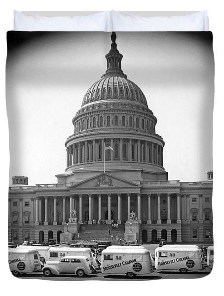 Roosevelt Caravan Trailers Duvet Cover