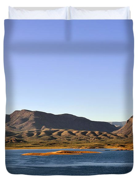 Roosevelt Lake Arizona Duvet Cover by Christine Till
