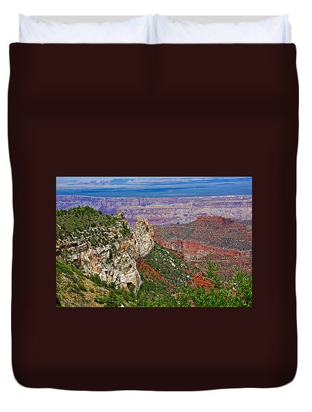 Roosevelt Point Two On North Rim/grand Canyon National Park-arizona   Duvet Cover