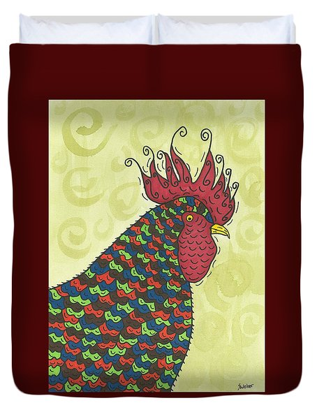 Rooster Comb Duvet Cover
