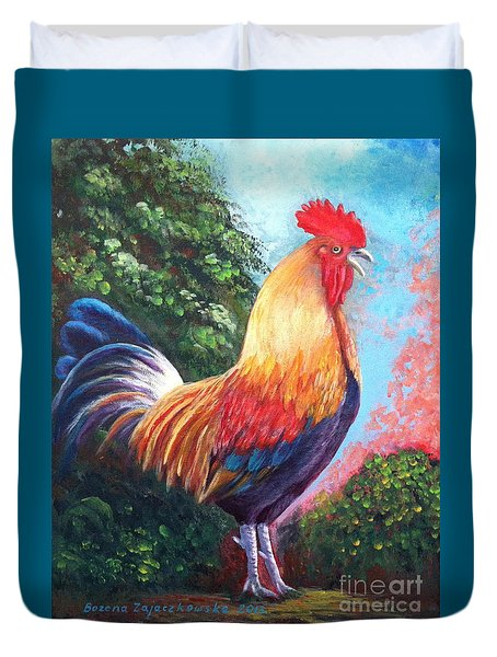 Rooster For Elaine Duvet Cover