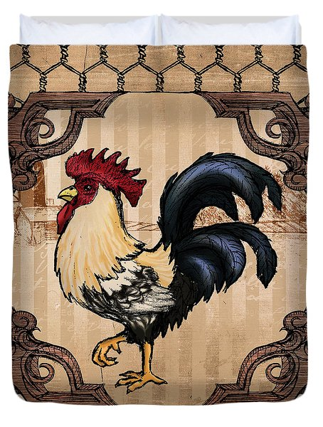 Rooster II Duvet Cover