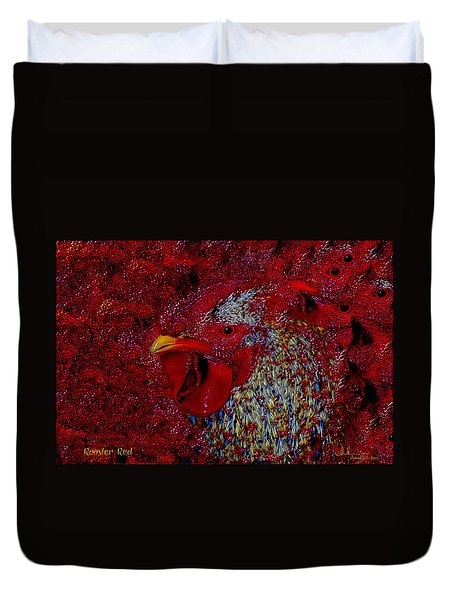 Rooster Red Duvet Cover