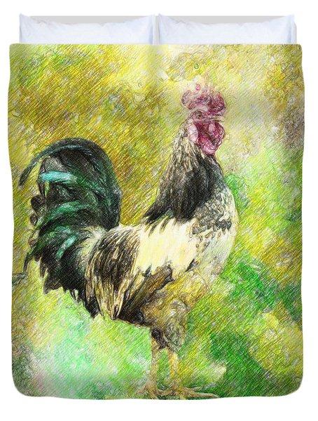 Rooster Duvet Cover by Taylan Apukovska
